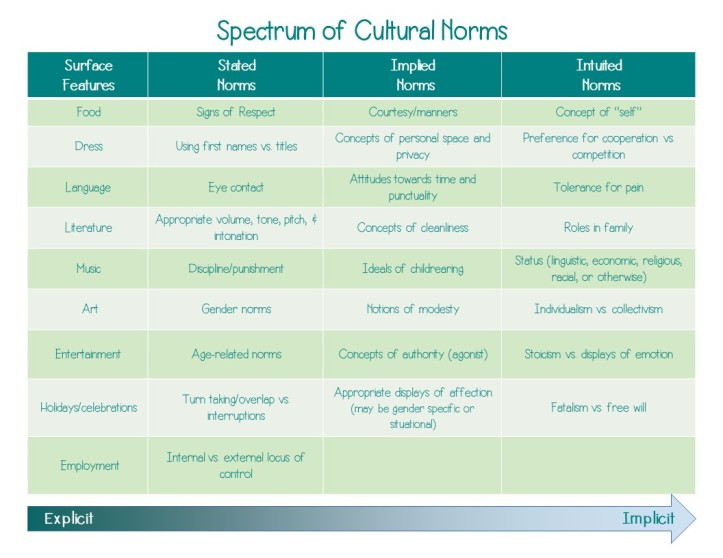 Cultural Norms Chart Pic